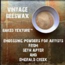Seth Apter, Emerald Creek Baked Texture 17g Embossing Powder - Vintage Beeswax